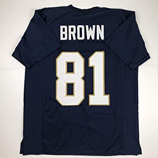 Unsigned Tim Brown Notre Dame Blue Custom Stitched College Football Jersey Size Men's XL New No Brands/Logos