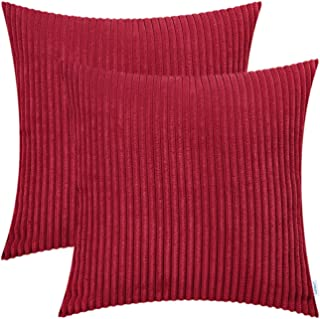 red and white striped couch