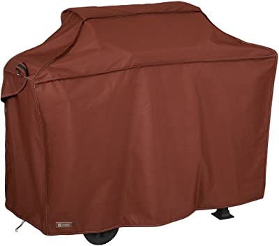 Classic Accessories 55-847-031001-RT Montlake Fade Safe Heavy-Duty Grill Cover, Heather Henna, Medium