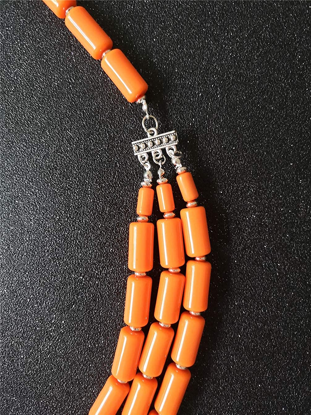 Ufraky Fashion Handmade Bead Multilayer Statement Necklace Bracelet Earrings Jewelry Set