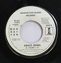Grace Jones 45 RPM G. I. Blues / Slave to the Rhythm
