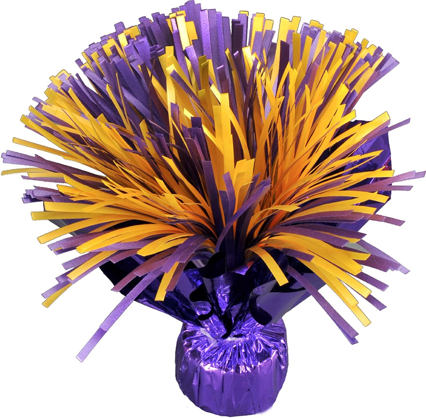 Purple and Yellow or Gold Shaker Centerpiece Balloon Weight (20