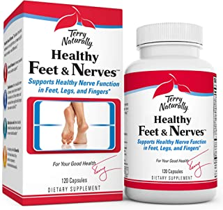 Terry Naturally Healthy Feet & Nerves - 120 Vegan Capsules - Nerve Function Support Supplement, Contains B Vitamins, Alpha...
