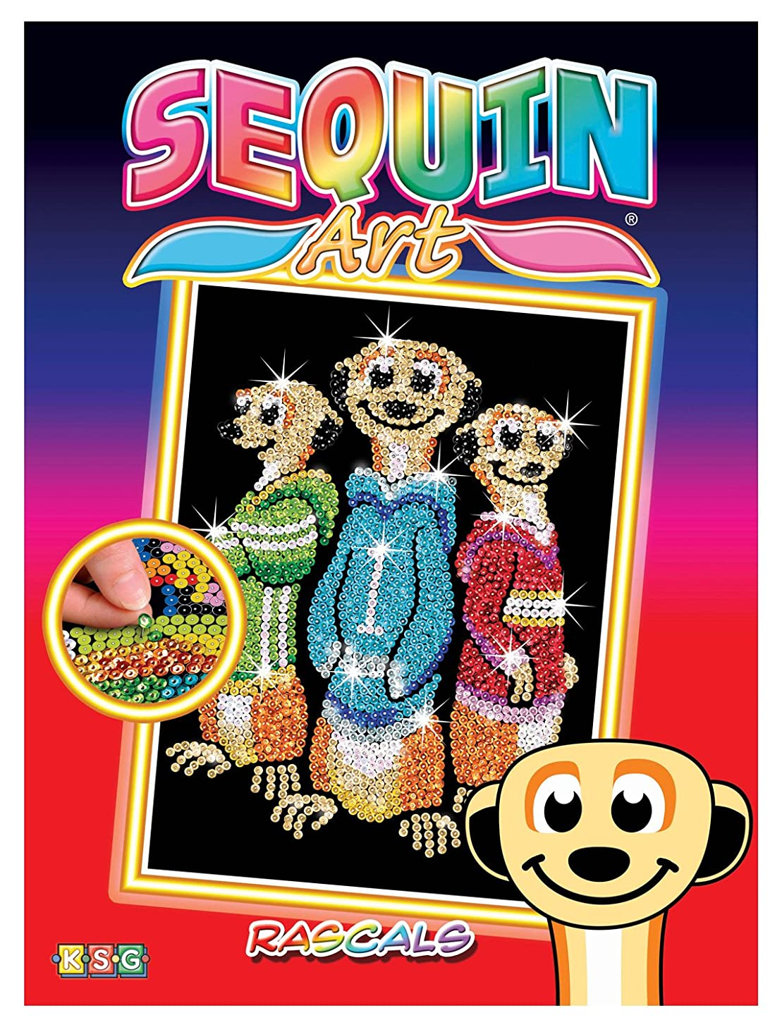 Sequin Art Red, The Meerkats, Sparkling Arts and Crafts Picture Kit, Creative Crafts