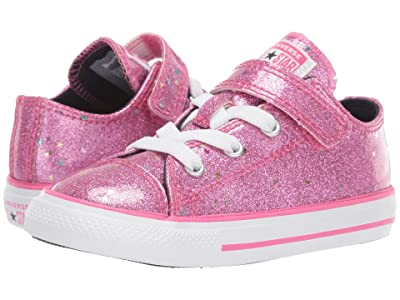 Converse Kids Chuck Taylor(r) All-Star(r) 1V Galaxy Glimmer Ox (Infant/Toddler) (Mod Pink/Ozone Blue/White) Girls Shoes