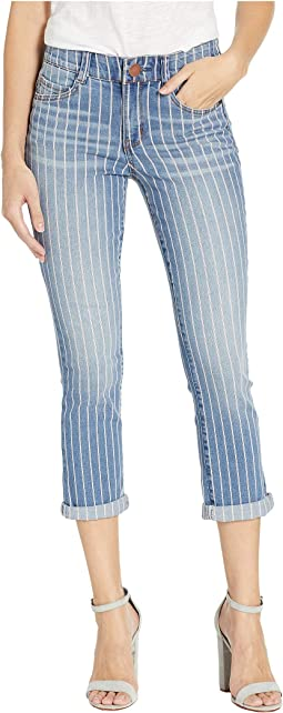 Body Sculpt Crop Jeans in Stripe