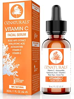 OZNaturals Vitamin C Serum For Face with Hyaluronic Acid - Anti Aging Serum & Hyperpigmentation Treatment With Pure Vitami...