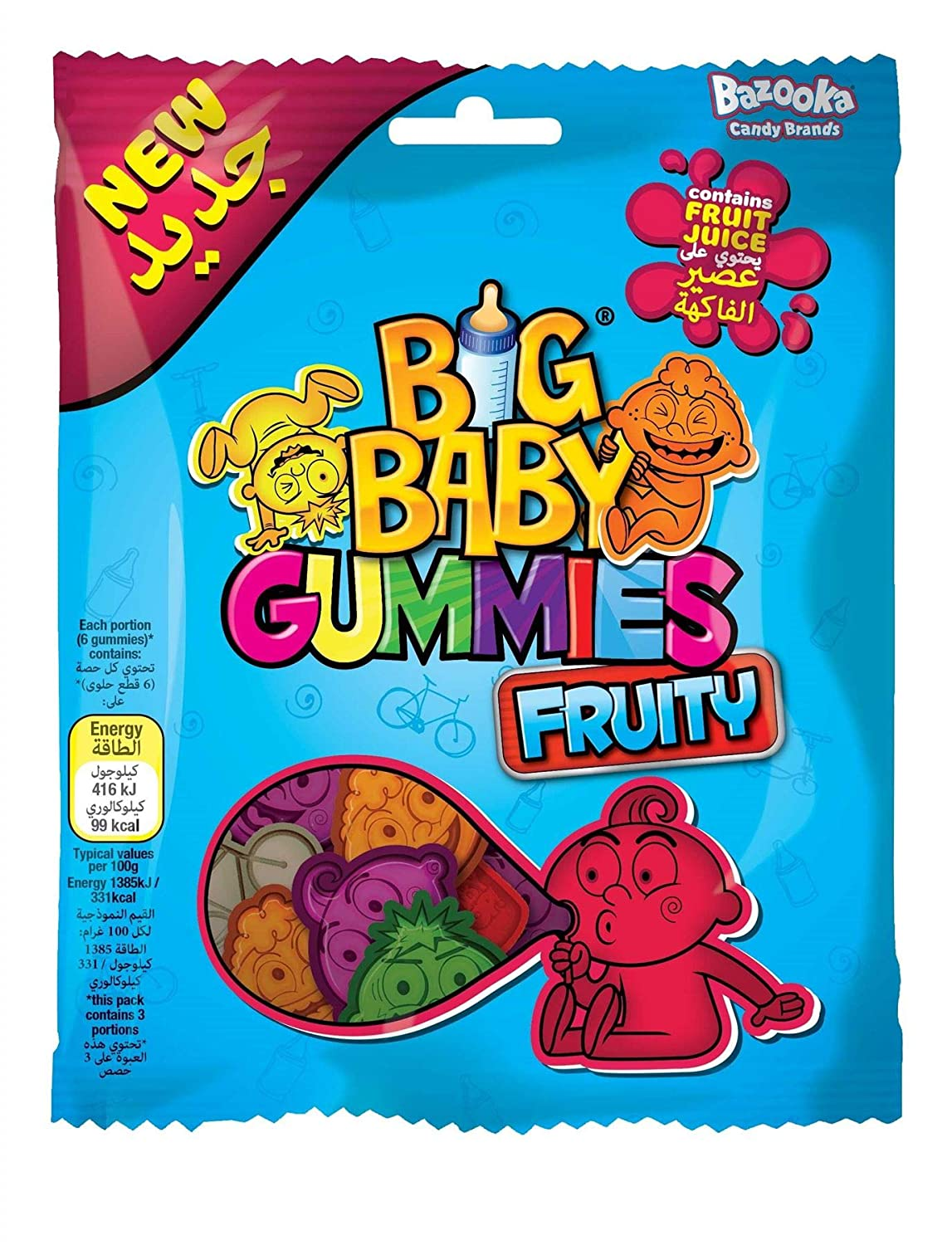 Big Baby Pop Fruity Gummies Pack of - Free shipping anywhere in Sales of SALE items from new works the nation 8 100g