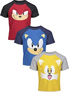SEGA Sonic The Hedgehog Boys 3 Pack Short Sleeve Graphic T-Shirts