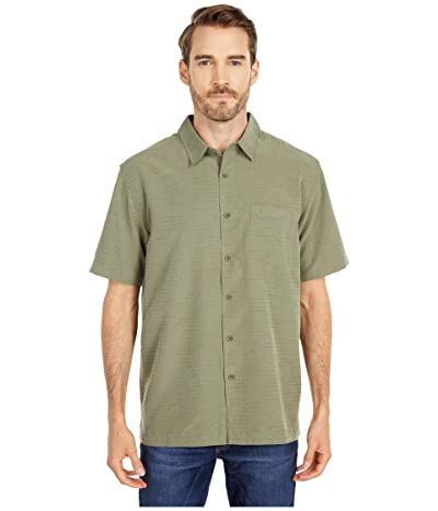Quiksilver Waterman Centinela 4 Short Sleeve Shirt (Deep Lichen Green Centinella) Men