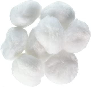 Darice 8-Piece Acrylic Pom Pom, 2-Inch, White
