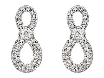 Swarovski Infinity Mini Pierced Earrings (White) Earring
