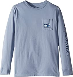 Long Sleeve Vampire Whale Pocket Tee (Toddler/Little Kids/Big Kids)