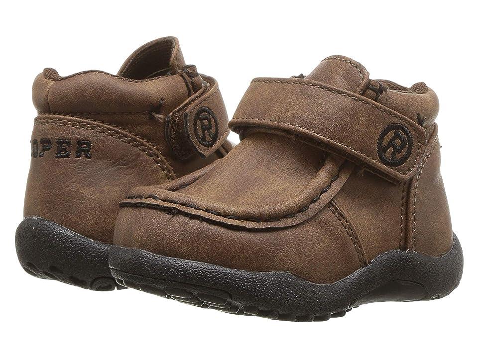 Roper Kids Cowboy Moc (Infant/Toddler) (Brown Faux Leather) Boys Shoes