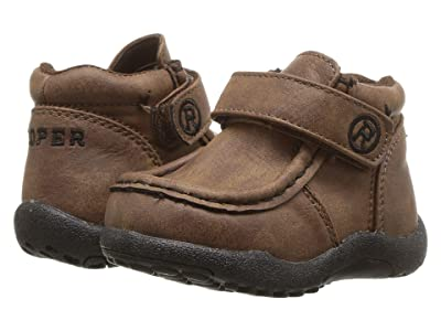 Roper Kids Cowboy Moc (Infant/Toddler) (Brown Faux Leather) Boys Shoes