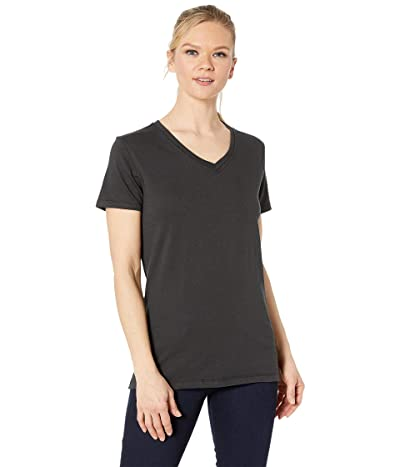 Carhartt Lockhart Short Sleeve V-Neck T-Shirt (Black) Women