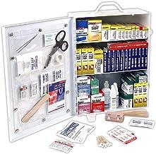 کمک های اولیه سریع 80094 3 قفسه ANSI / OSHA مطابق با کلیه هدف، کابینه اول کمک، دیوار قابل تنظیم، 800 قطعه