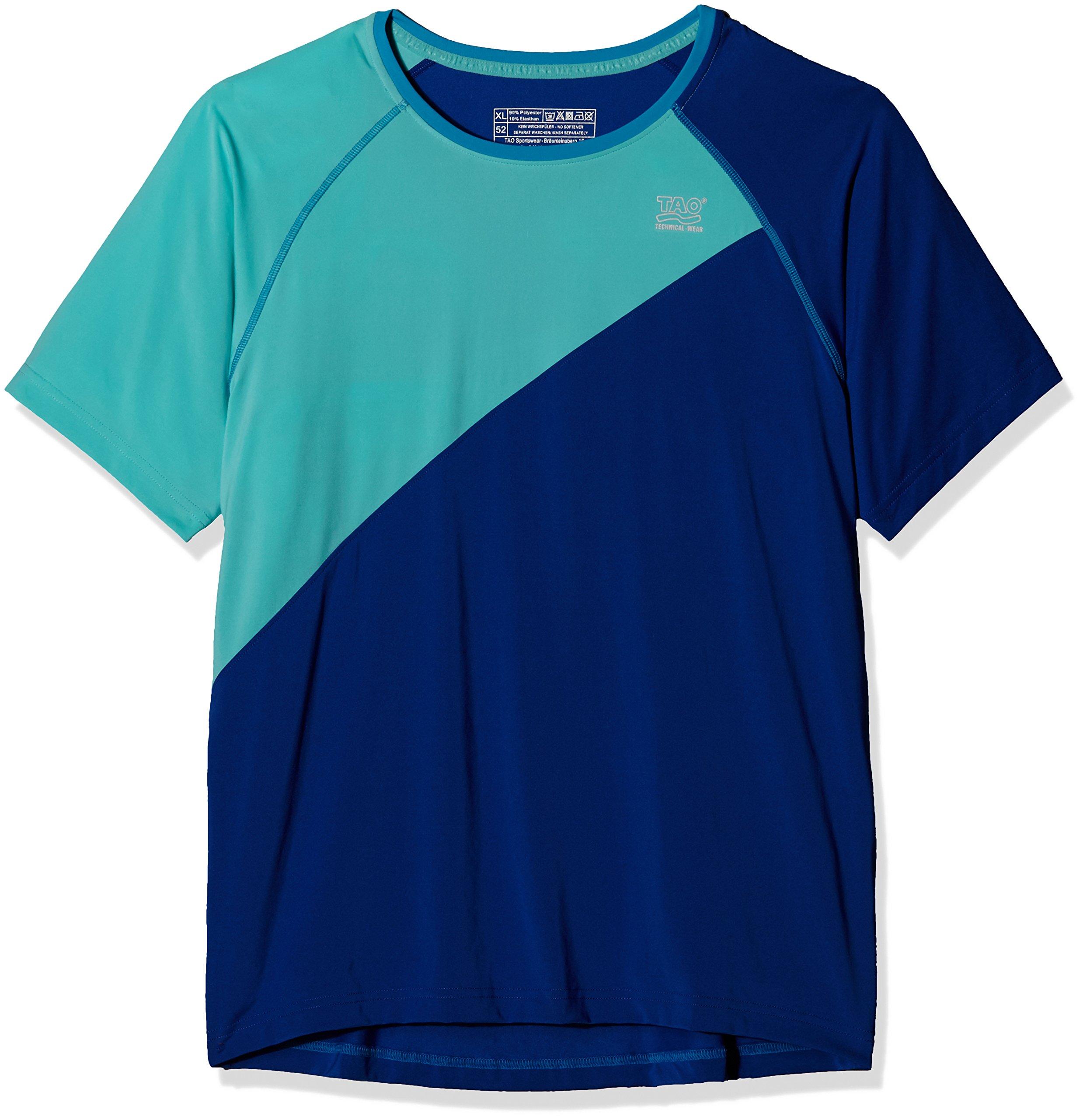 TAO Sportswear Herren Kurzarm Laufshirt Pulse Running, Cobalt/Nirvana, 54