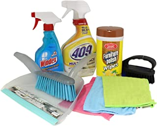 Dorm Room Multipurpose Cleaning Kit Value Pack with 409 All Purpose, Windex & More