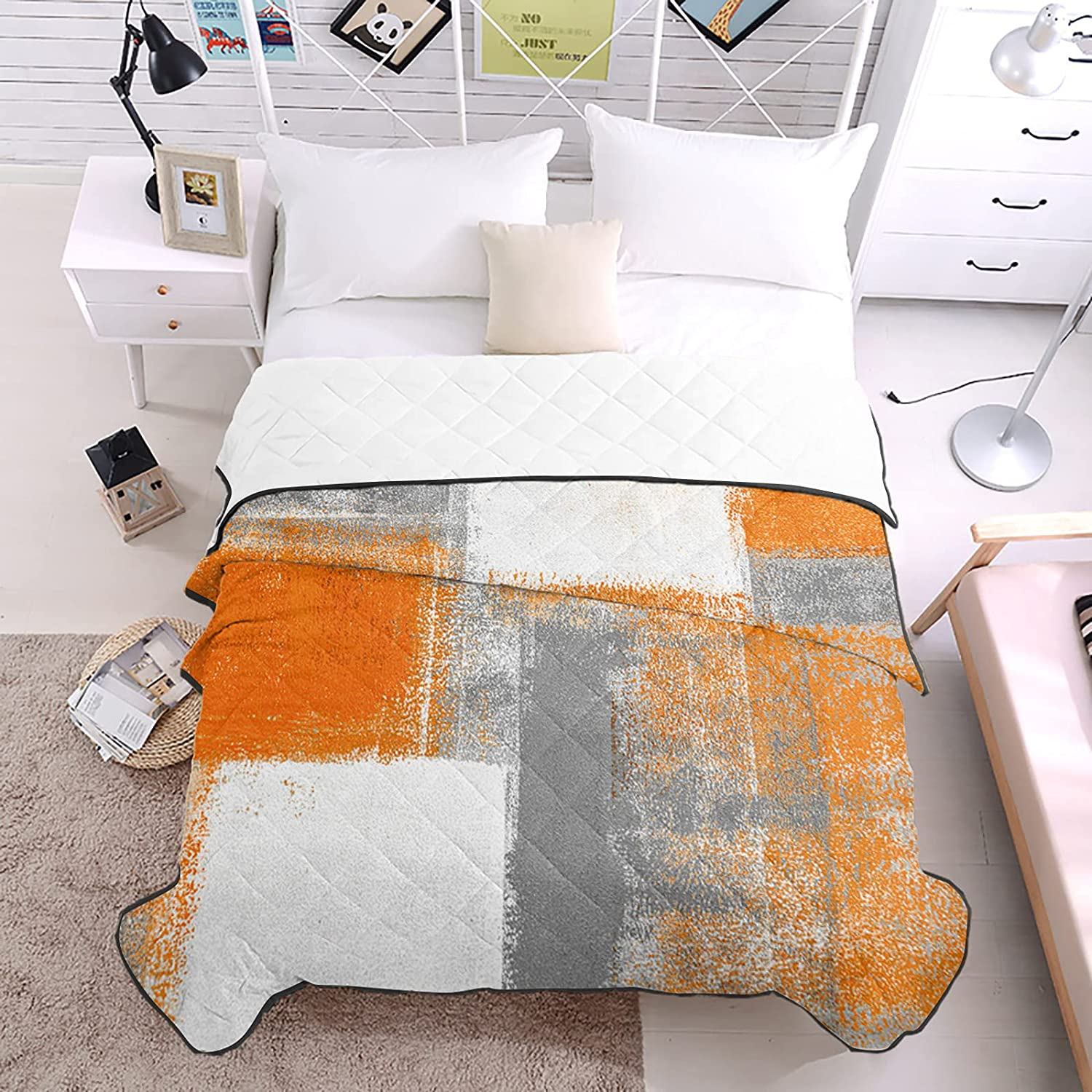 DecorLovee Bedding Duvets Orange 40% OFF Cheap Sale Painting New product type Oil Abstract Geometry