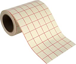 Angel Crafts Transfer Paper Tape: Craft Transfer Tape for Vinyl Application with Red Grid Lines - Self Adhesive Transfer Paper Roll Compatible with Cricut, Silhouette Cameo - 6 Inch by 50 Feet, White