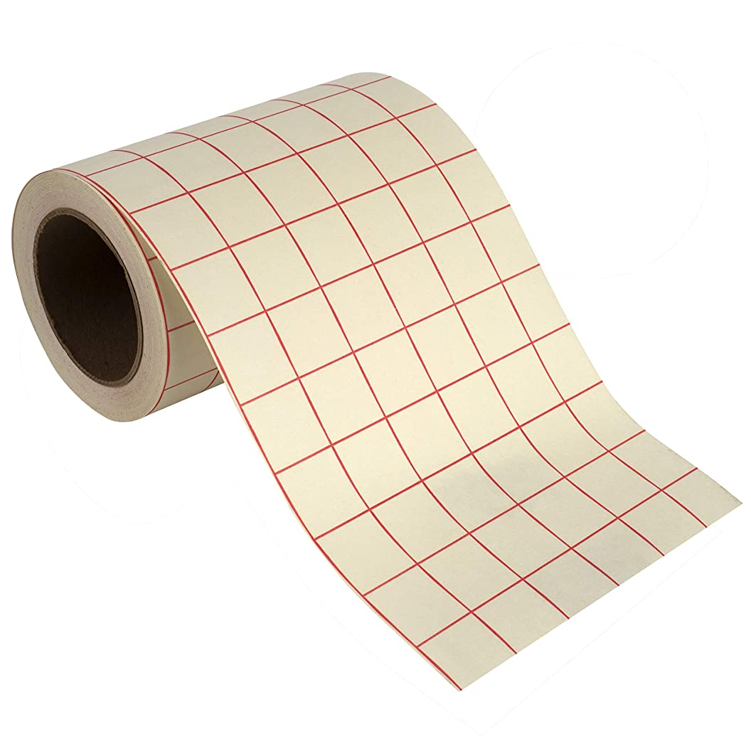 Angel Crafts Transfer Paper Tape: Craft Transfer Tape for Vinyl Application with Red Grid Lines - Self Adhesive Transfer Paper Roll Compatible with Cricut, Silhouette Cameo - 6 Inch by 50 Feet, White ykdjeukzcyw13
