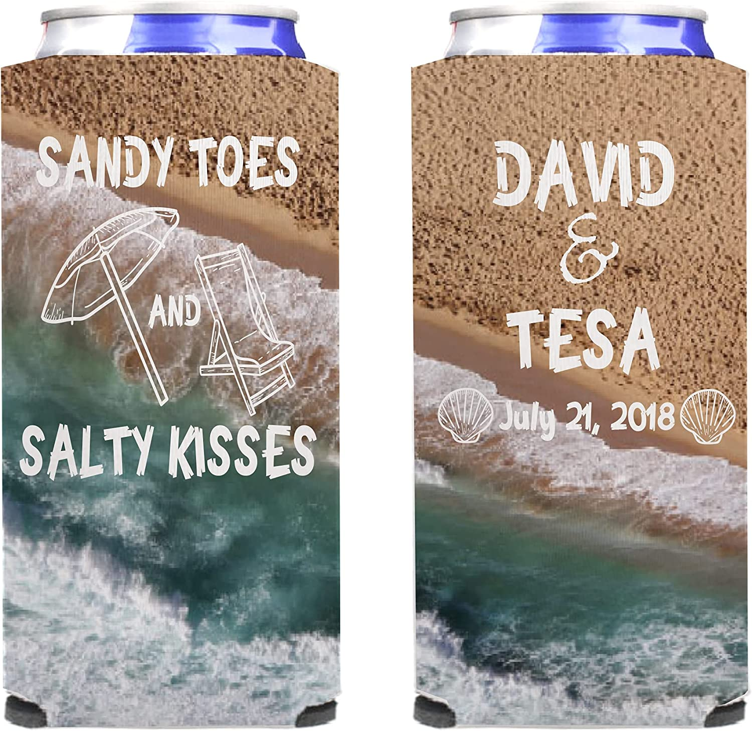 """VictoryStore Can and Gifts Beverage Coolers: Toes Customizable """"Sandy SEAL limited product"""
