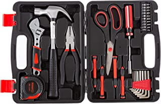 Stalwart Tool Kit - 28 Heat-Treated Pieces with Carrying Case - Essential Steel Hand Tool and Basic Repair Set for Apartme...