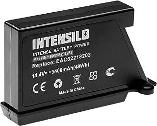 INTENSILO batería compatible con LG HomBot VR9624PR, VR9627PG, VR9647PS, VRD710RRC, VSR9640PS aspiradora robot de limpieza (3400mAh, 14.4V, Li-Ion)