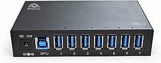 BrovSS - 7 Port USB 3 Splitter - USB 3.0 Powered Hub - USB Hub Charger with 12V 3A 36W Power Adapter