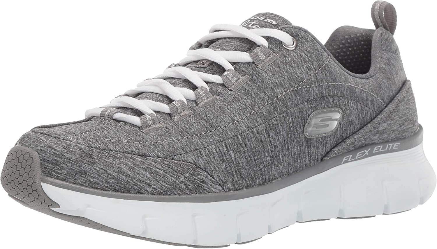 Skechers Women's Synergy 3.0-Spellbound Sneaker Grey 7H M US