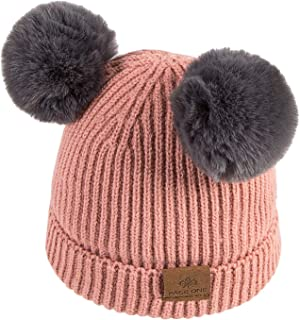 de5bf543da93b PAGE ONE Girls Boys Beanie Hat Winter Warm Fleece Lined Hat Toddler Infant  Kids Knit Cap