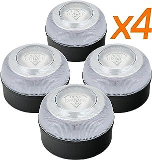 Hero Driver LED Pack 4 UN. - Baliza V16 Homologada 2 · Luz DGT Obligatoria - Señal Emergencia Coche y Moto · Funcionamient...