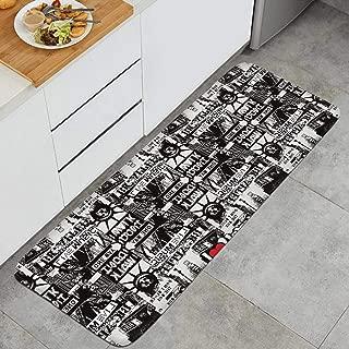 I Love NY New York Logo Anti-Fatigue Kitchen Floor Mat Dry Fast Rug Doormats Outdoor Indoor Printted Floormat