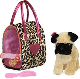 toy dog in bag