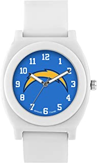 Game Time Women's 'Fan' Quartz Plastic and Rubber Casual Watch, Color:White (Model: NFL-FNW-LAC)