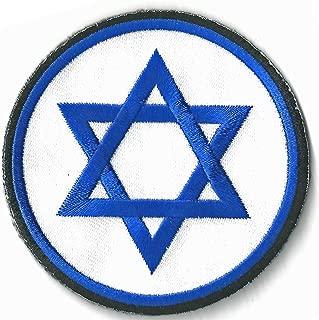 JEWISH JEW STAR of DAVID Christian Blue Embroidered 3