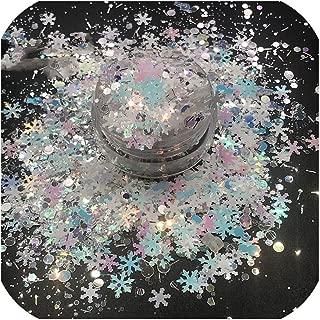 Tct 078 Christmas Mix Nail Glitter For Xmas Nail Art Decoration Nail Design Nail Gel Body Art Painting Makeup Diy Decoration,12 Colors 10G Each