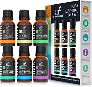 ArtNaturals Aromatherapy Top-6 Essential Oil Set - (6 x 10ml Bottles) - 100% Pure of the Highest Therapeuti...