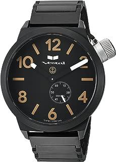 Vestal 'Canteen Metal' Quartz Stainless Steel Casual Watch, Color Black (Model: CNT453M07.1BKM)