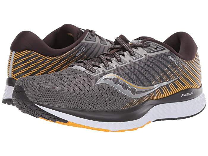 Saucony  Guide 13 (Grey/Yellow) Mens Shoes