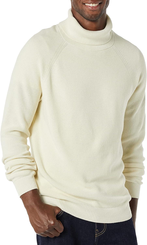 Amazon Essentials Suéter de Cuello Alto de Punto Acanalado 100% algodón Hombre