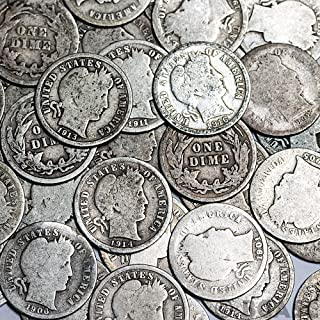 barber silver dime value