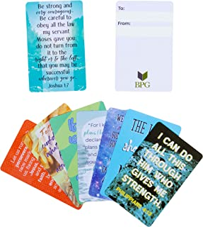 Juvale 24-Pack Plastic Bible Scripture Encouragement Cards, Christian Inspirational Prayer Verses, Wallet Size, 3 x 2 Inches