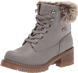 Lugz Women's Flirt Hi Faux Fur Fashion Boot, Grey/Gum, 6