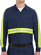 Red Kap Men's Industrial 2 Piece Lined Collar Work Shirt