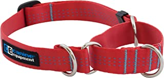 Canine Equipment Technika 1-Inch All Webbing Martingale Dog Collar, X-Large, Red