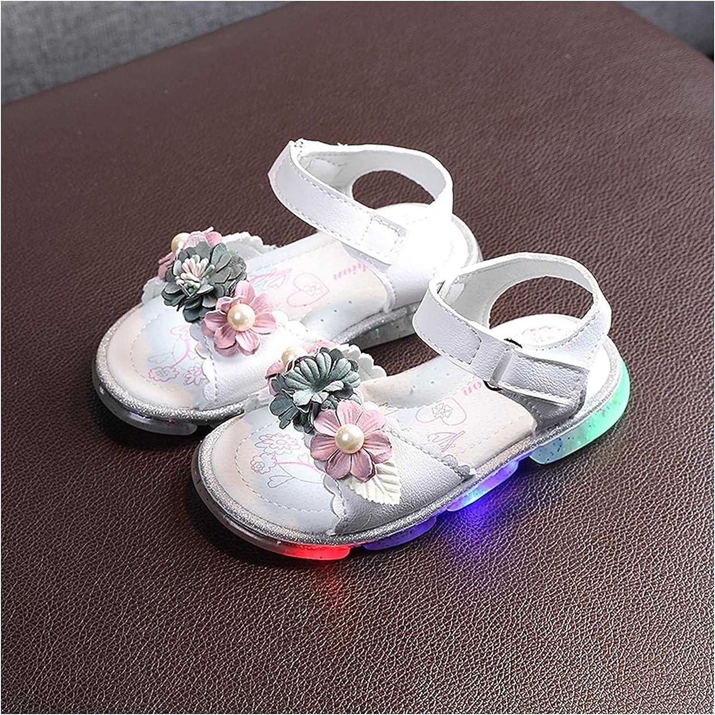Arlington Mall Baby Girl Shoes Children Inexpensive Led Girls Light Flower Sandals Princess