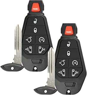 Discount Keyless Replacement Remote Fob Car Ignition Key For Town Country Grand Caravan (2 Pack)