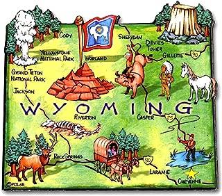 Wyoming the Cowboy State Artwood Jumbo Fridge Magnet